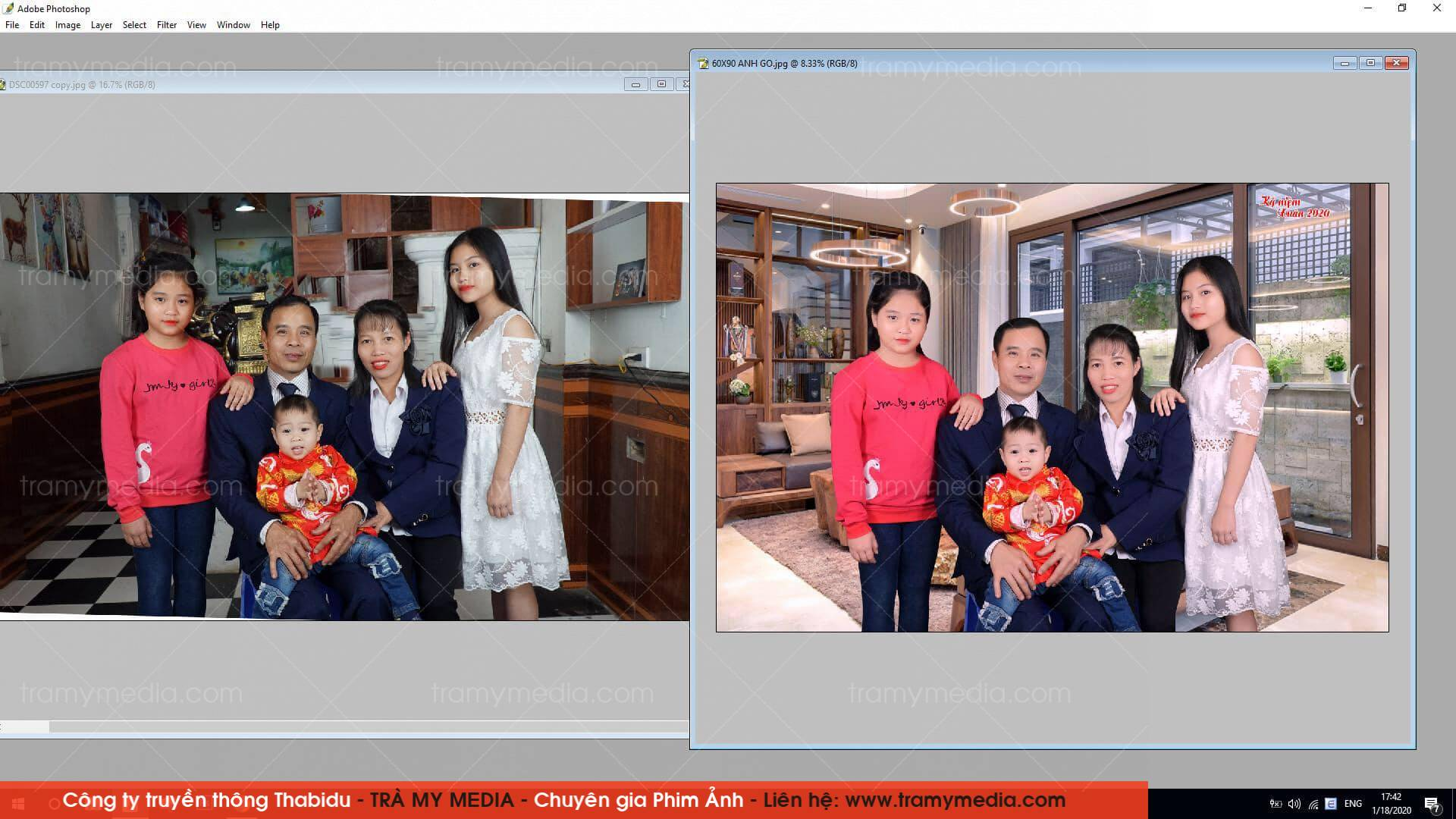 in phóng ảnh gia đình 60x90 1